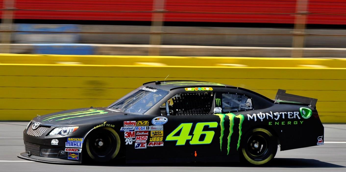 Rossi preizkusil NASCAR dirkalnik