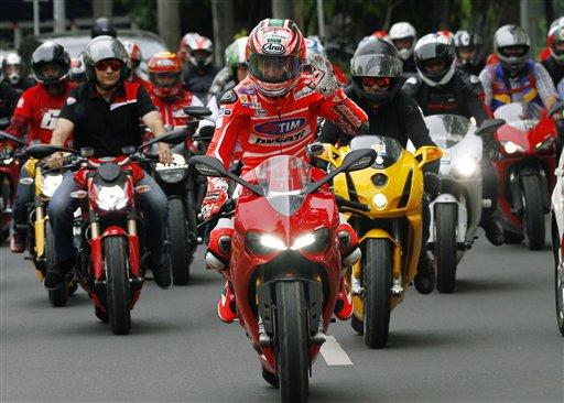 Haydnu se je pridružilo 100 motociklističnih navdušencev