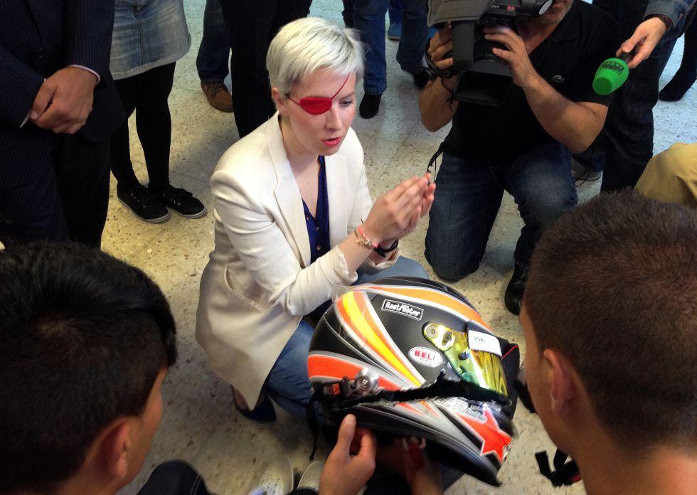 Maria pokazala čelado iz usodne nesreče