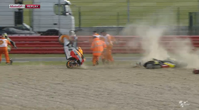 Marquez padel in ogrozil nastop na dirki