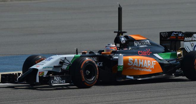 Hulkenberg najhitrejši, Red Bull v težavah