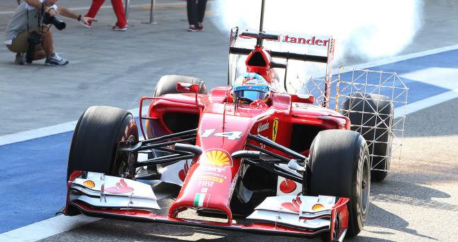 Alonso je s kadečim Ferrarijem F14 T prestrašil svoje mehanike