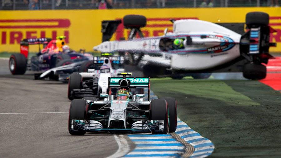 Rosberg ležerno do domače zmage