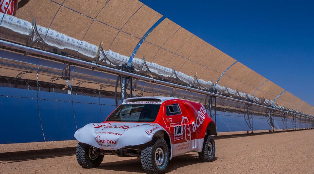 Zgodovinski nastop električnega avta v Dakarju