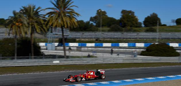 Zadnji dan testiranj v Jerezu Ferrariju