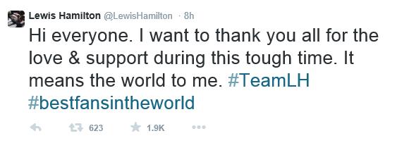 Lewis Hamilton Twitter razhod z Nicole