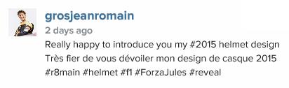 Romain Grosjean čelada 3