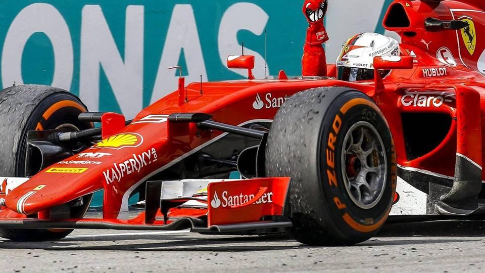 Vettel Ferrariju pridrikal prvo zmago po letu 2013