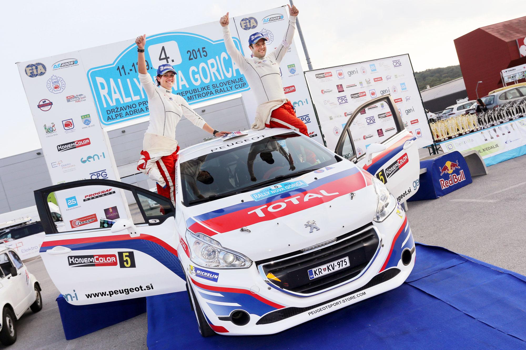 Zmaga na rallyju Nova Gorica za Roka Turka in Peugeot 208 R2