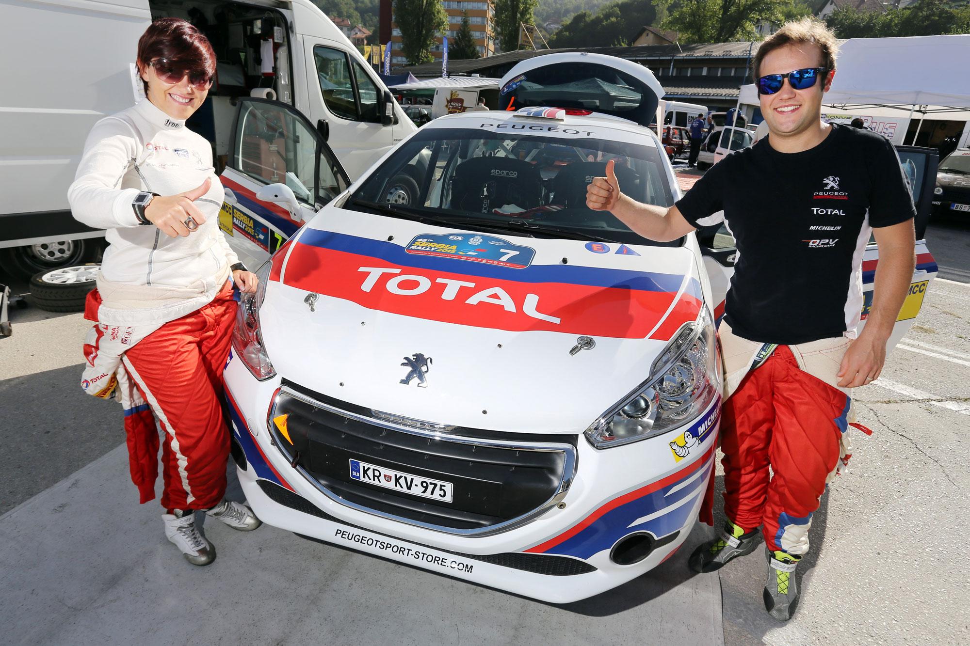 Zmaga in 2. mesto za Roka Turka na rallyju Srbija