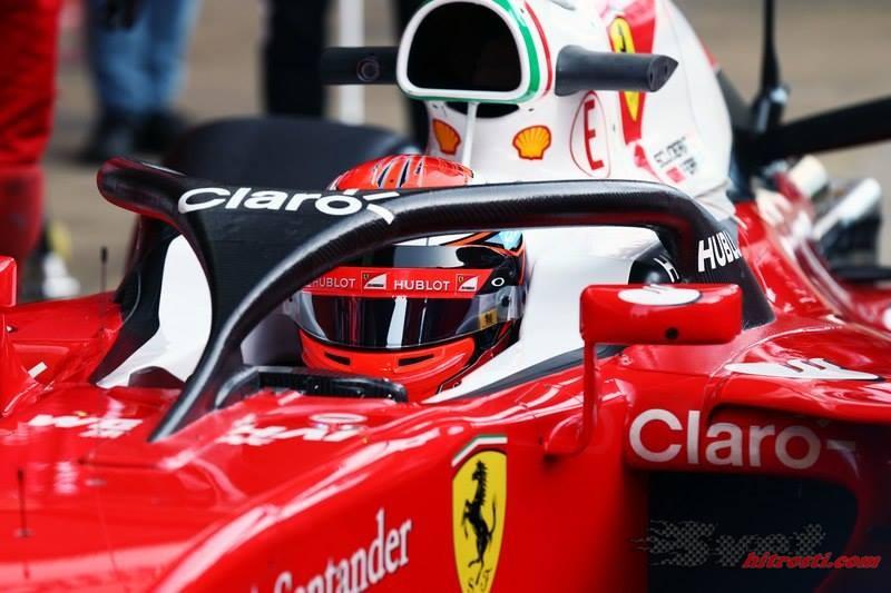 Ferrari v Barceloni testiral zaščito za glavo