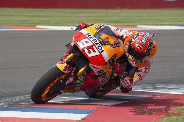 Marquezova prednja guma po zmagi povsem obrabljena