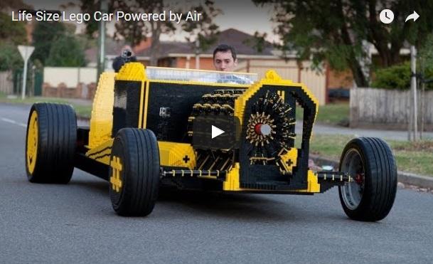 VIDEO: Najstnik iz Lego kock zgradil avtomobil na zrak