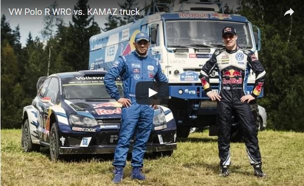 VW Polo R WRC proti tovornjaku Kamaz