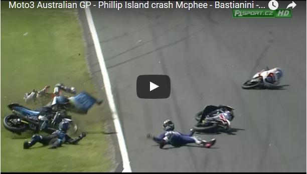Grda nesreča štirih dirkačev v razredu Moto3