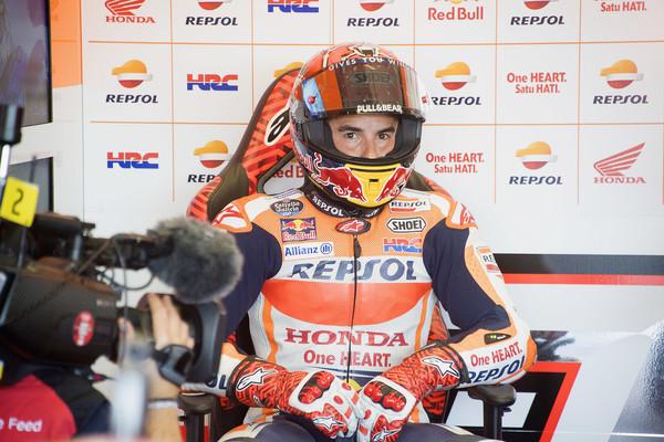 Ogrevanje: Najhitrejši Marquez spet na tleh