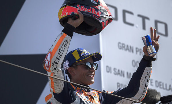 Marquez do zmage na domačih tleh, Lorenzo padel