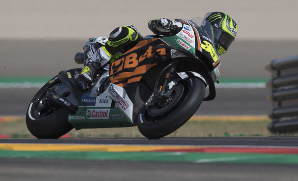 Crutchlowu tretji trening, Rossi gre po padcu v Q1