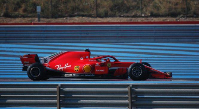 VIDEO: Leclerc v Franciji nabiral kilometre s Ferrarijevim letošnjim dirkalnikom