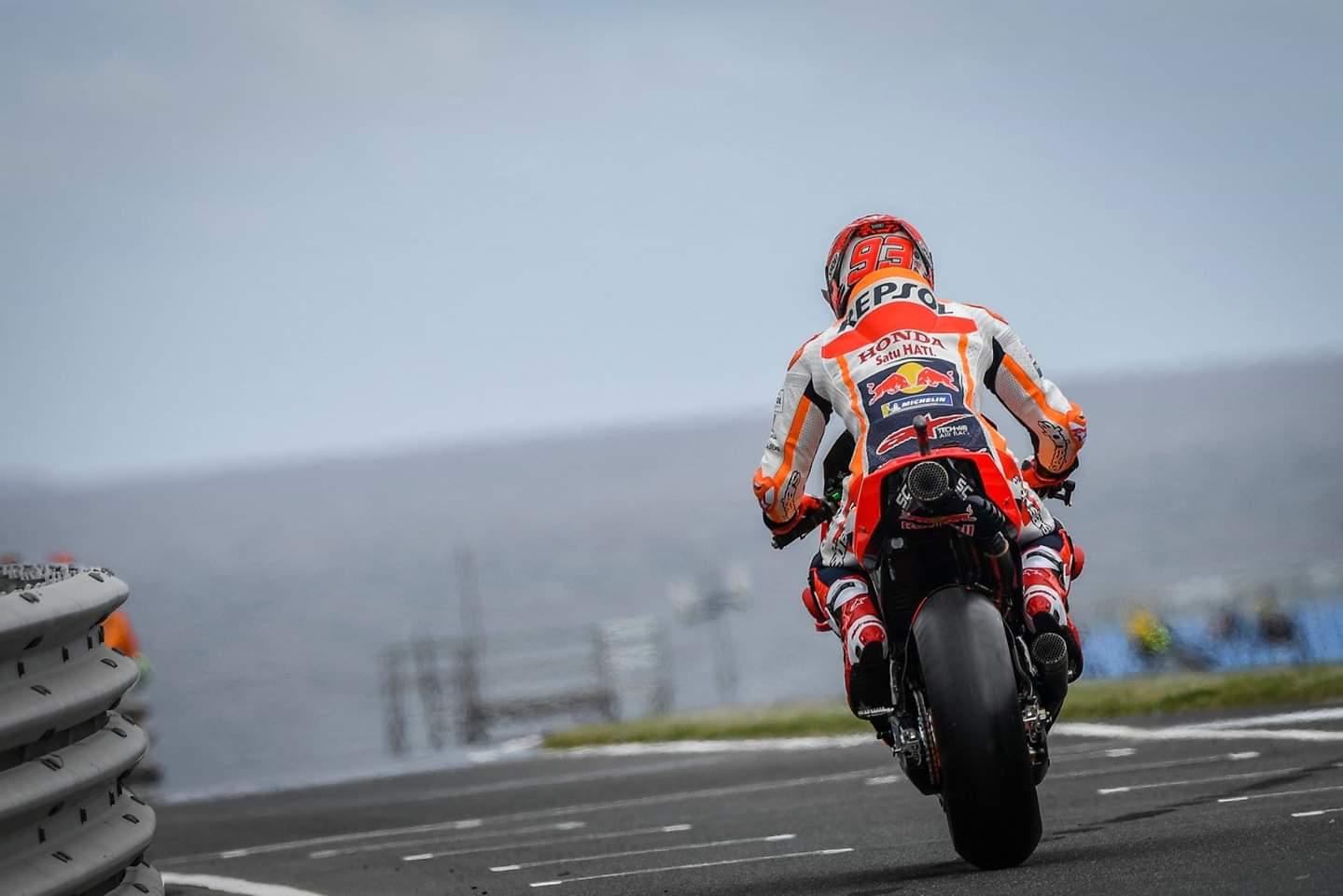 Marquez na dirki v Avstraliji s prvega mesta