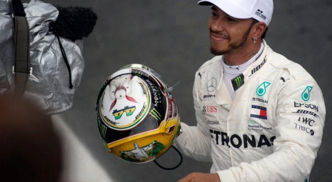 Hamilton slavil v Sao Paulu