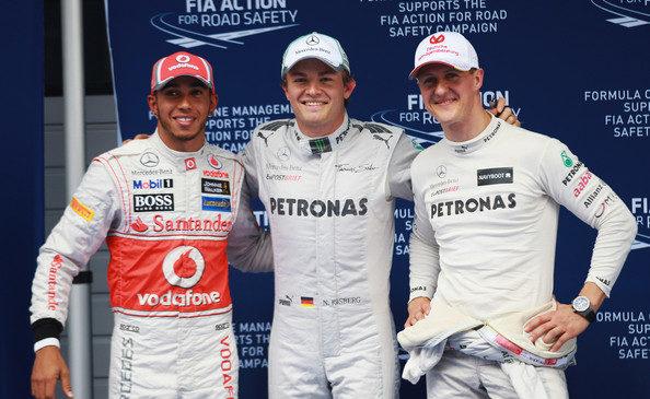 Schumacher je Hamiltonu pomagal do dominantnega dirkalnika