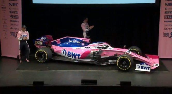 Dirkalnik predstavilo tudi moštvo Racing Point