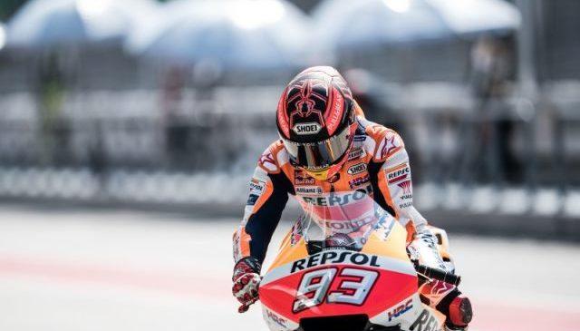 Marquez: Prednji del Honde še vedno povzroča padce