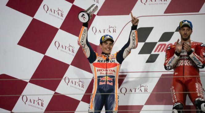 VIDEO: Marquez pred dirko v Argentini trdo pristal na stezi