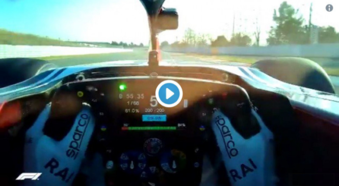 VIDEO: 'On-board' krog z Raikkonenove čelade