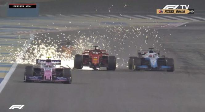 VIDEO: Vettel po boju s Hamiltonom ostal brez krilca