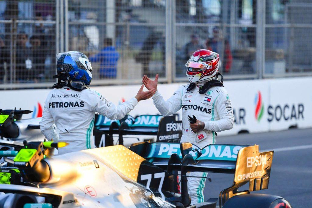 F1: Valtteri Bottas je z dvojno zmago Mercedesov v Bakuju prevzel vodstvo v prvenstvu
