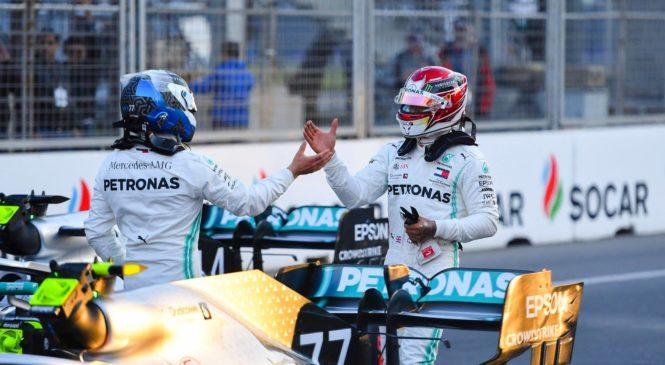 Bottas z dvojno zmago Mercedesa prevzema vodstvo v prvenstvu