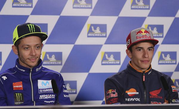 Marquez glede rokovanja z Rossijem: Kot bi poljubil dekle