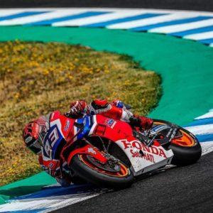 MotoGP: Marc Marquez je na testiranjih vozil motocikel v rdeče-modrih barvah HRC