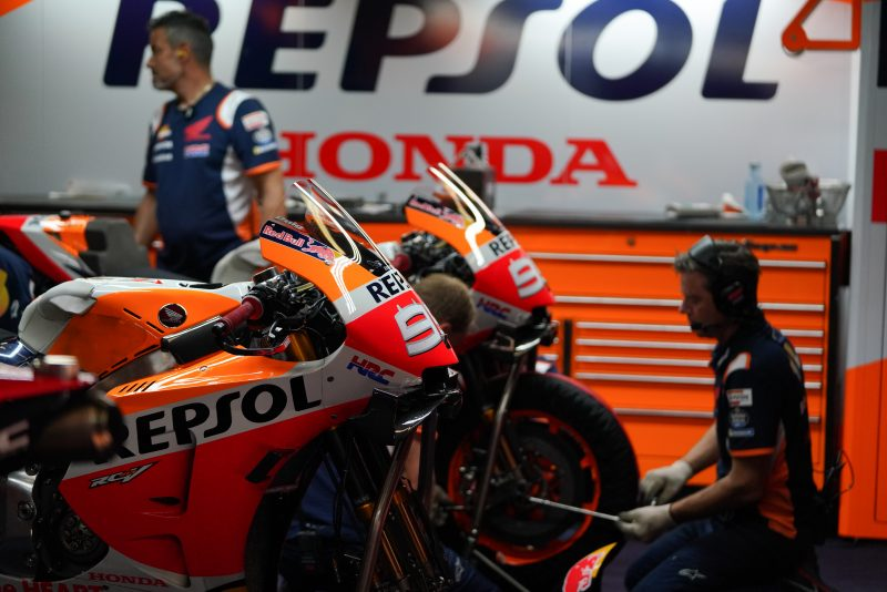 Jorge Lorenzo motocikla garaža Honda