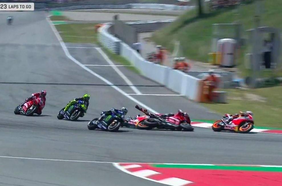 MotoGP: Lorenzo Bracelona 2019 crash rossi vinales dovizioso video