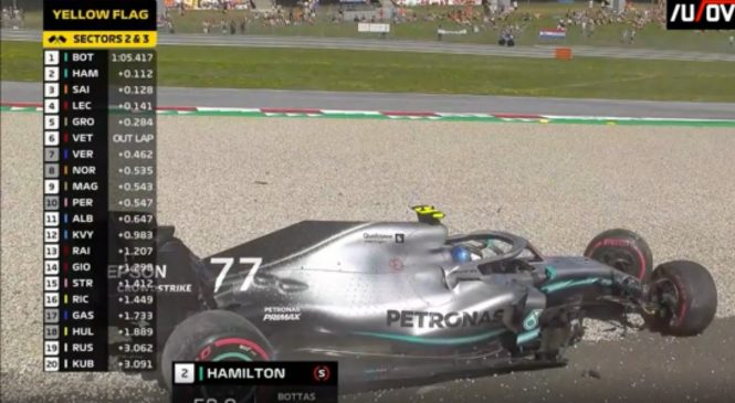 VIDEO: Bottas, Verstappen in Vettel razbili dirkalnike