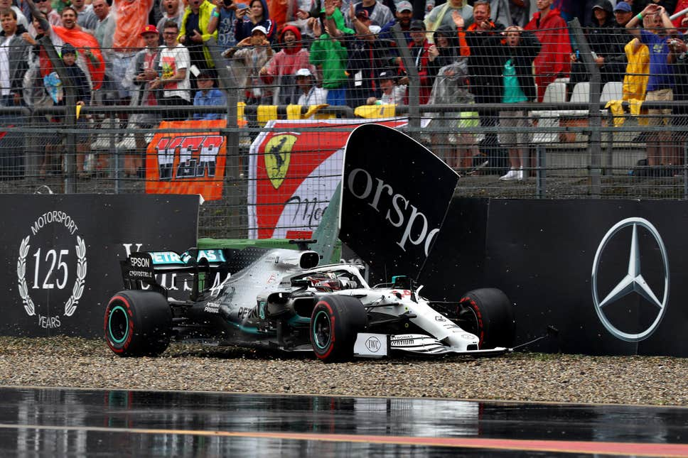 Lewis Hamilton crash German GP 2019