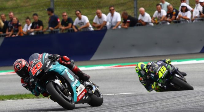 MotoGP Silverstone: Quartararu tudi tretji trening, Rossi drugi