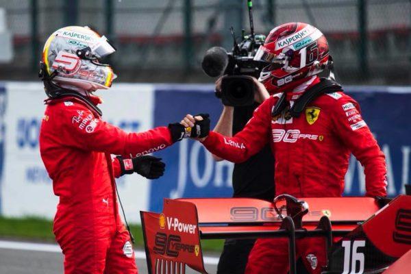 Sebastian Vettel Charlesu Leclercu pomagal do prve zmage
