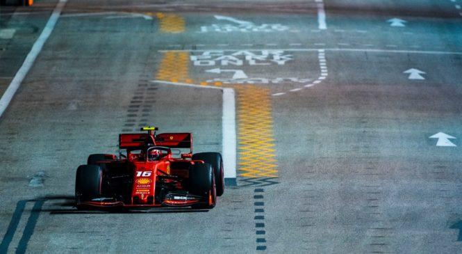Leclerc zlahka do najboljšega štartnega položaja pod lučmi Marine
