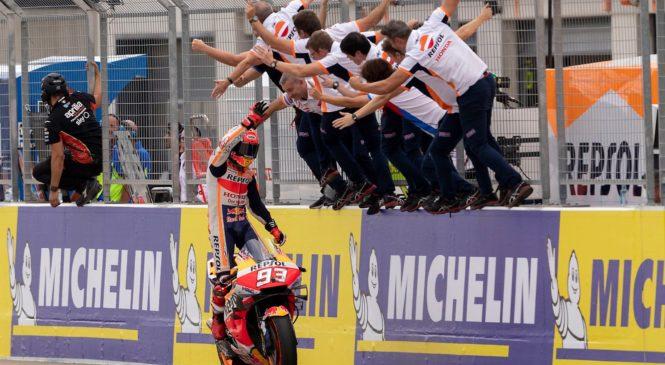 Marquez z zmago na Tajskem do osmega naslova prvaka