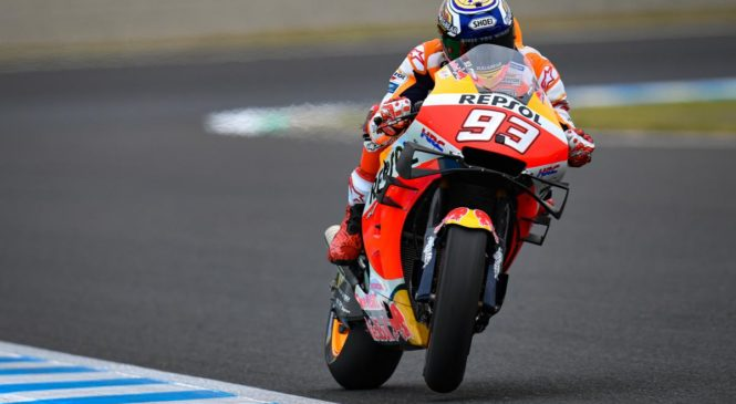 Marquez suvereno do zmage v Motegiju