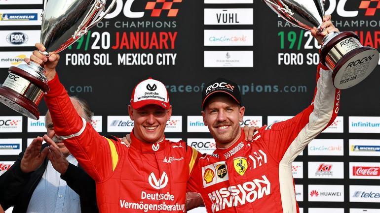 Mick Schumacher Sebastian Vettel na dirki prvakov 2019