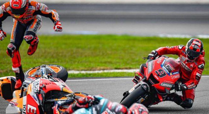 MotoGP: Marqueza je v Sepangu kaznovala karma, ker se je poigraval s Quartararojem