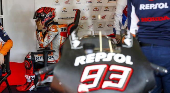 Marqueza pri padcu na testiranjih prestrašila poškodba rame