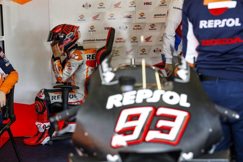 Marca Marqueza na testiranjih MotoGP prestrašila manjša poškodba rame