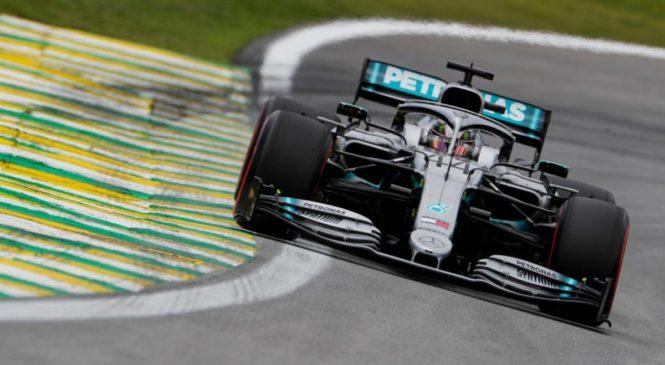 Hamilton zaradi trčenja z Albonom ostal brez brazilskih stopničk