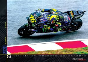 Stenski koledar Valentino Rossi motogp
